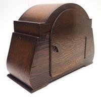 Good Art Deco Oak Mantel Clock – Striking 8-day Arched Top Mantle Clock (7 of 9)