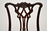 Set of 8 Antique Mahogany Chippendale Dining Chairs (9 of 14)