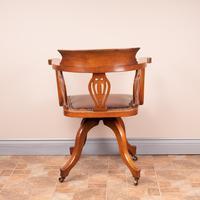 Oak Revolving Office Desk Chair (7 of 10)