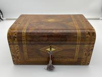 Victorian Inlaid Walnut & Tunbridge Ware Jewellery Box (3 of 14)