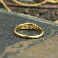 The Antique 1921 Old Cut Five Diamond Ring (7 of 8)