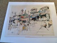 """William Papas """" India  """" Mixed Media Painting 1970's - 6 of 6 Listed (5 of 6)"""