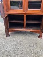 Antique Arts & Crafts Carved Walnut Bookcase (11 of 13)