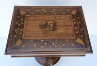 Rare 19th Century Marquetry Inlaid Irish Killarney Work Box or Table (2 of 13)