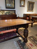 Oak refectory table baluster legs (7 of 7)