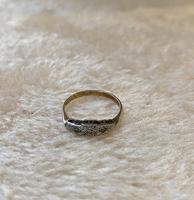 9ct. And Platinum 3 Stone Diamond Ring (4 of 4)