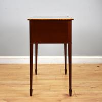 Pair Edwardian Mahogany Serpentine Side Tables (11 of 14)