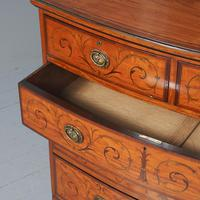 Inlaid Satinwood Chest of Drawers by S & H Jewells (8 of 14)