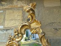 Good Antique Giltwood Rococo Mirror (4 of 7)