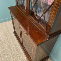 Exceptional Inlaid Victorian Antique Glazed Bookcase by Edwards and Roberts (9 of 10)