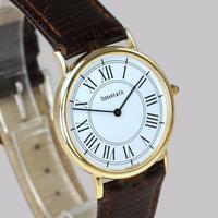 Vintage Tiffany & Co 14ct Solid Gold 31mm Slim Thin Men's / Ladies Quartz Watch with box (4 of 15)