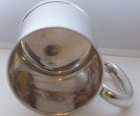 Boxed 1937 1 Pint Tankard Hallmarked Solid Silver Christening Mug William Neale (5 of 9)