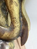 Art Deco French Signed Gilt Bronze 2 Female Nude Mermaids Swimming Statue c.1930 (36 of 41)