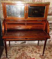 French Empire Mahogany Desk Cabinet