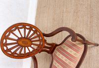 Antique Edwardian Armchair Inlaid Mahogany (6 of 10)