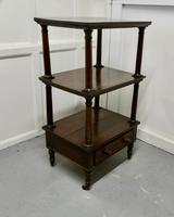 Three Tier Regency Rosewood Whatnot with Drawer (4 of 7)