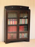 Arts & Crafts Dark Oak Bookcase (3 of 9)