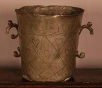 18th Century Pewter Two Handled Cup (2 of 5)