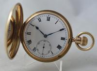 1929 9K Gold Full Hunter Pocket Watch, Stauffer IWC