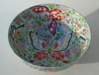 Antique Chinese Porcelain Bowl with Butterflies Famille Rose (5 of 12)