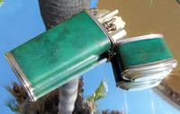 Rare Absolutely Stunning Georgian Solid Silver & Green Shagreen Etui Case    c1760 (13 of 13)