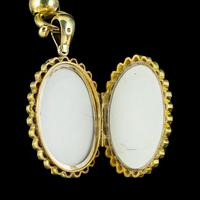 Antique Victorian Locket Collar Necklace Sterling Silver 18ct Gold Gilt Dated 1881 (6 of 11)