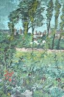Early 20th Century British School A Town Garden Oil on Board (8 of 9)