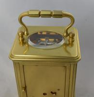 early Shutter Winding Covers Striking Carriage Clock (2 of 4)