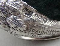 """George V Silver """"Fledgling"""" Pin Cushion by Levi & Salaman, Birmingham 1912 (3 of 6)"""