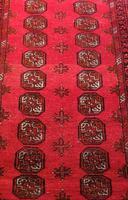 Handmade Bokhara wool rug vibrant red ground (8 of 11)
