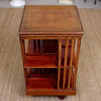 Edwardian Revolving Bookcase Inlaid Mahogany (6 of 6)