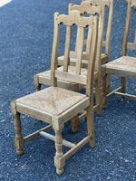 Set of 6 French Bleached Oak Farmhouse Dining Chairs (11 of 13)