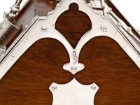 Unusual Shape Victorian Oak and Silver Plated Sugar Scuttle (7 of 10)