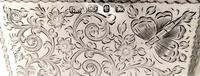 Antique Victorian Sterling Silver 'Butterflies' Card Case / Aide Memoire 1898 (3 of 10)