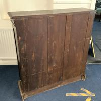 Carved Oak Open Fronted Bookcase (3 of 3)