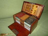 Unusual Oak Games Box - Bezique + Antique Cards + More (13 of 16)