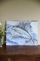 Still Life - Mackerel Oil Painting (3 of 11)