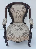 19th Century Rosewood Armchair (3 of 4)