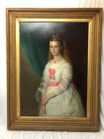 Huge 19th Century Young Fine Scottish Girl Portrait Matthias Robinson 1856-1895 (7 of 37)