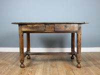18th Century English Twin Drawer Oak Table (5 of 7)