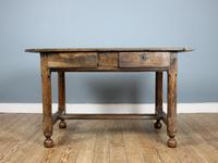 18th Century English Twin Drawer Oak Table (4 of 7)