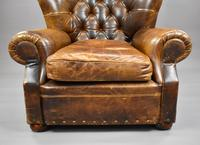Large Brown Leather Arm Chair (4 of 8)