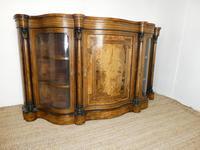 19thc Burr Walnut Credenza Cabinet (9 of 10)