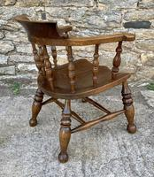 Antique Elm Captains Chair or Smokers Bow (8 of 14)