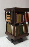 Rosewood Inlaid Revolving Bookcase (5 of 12)