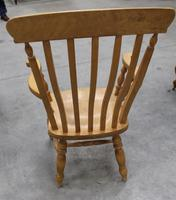 1960's Country Golden Beech Carver Chair (2 of 3)