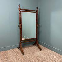 Elegant Regency Mahogany Antique Cheval Mirror (6 of 6)
