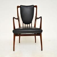 Rosewood & Leather Dining Table & Chairs by AJ Milne for Heals (4 of 22)