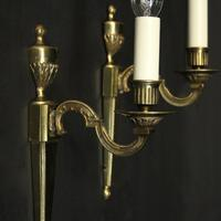 French Brass Single Arm Antique Wall Lights (5 of 7)