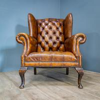 Wingback Leather Armchair (5 of 12)